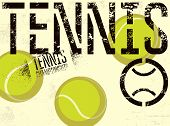 Tennis Typographical Vintage Grunge Style Poster. Retro Vector Illustration. poster