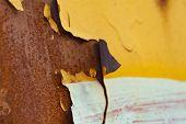 Rusted Metal Corrugated Metal Background.rusty Meta. Old Metal poster