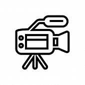 Video Camera Vector Icon On White Background. Video Camera Modern Icon For Graphic And Web Design. V poster