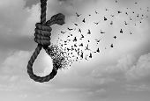 Psychology Of Suicide And Suicidal Severe Depression Therapy As A Mental Illness Health Concept As A poster