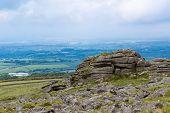 The Area Surrounding Belstone Tor In Dartmoor National Park, Devon, United Kingdom poster