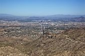 picture of piestewa  - Aerial view of Phoenix Arizona from behind South Mountain - JPG