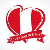 Peru Independence Day Greeting Card. 28 July, Peru Independence Day Lettering Banner Background With poster