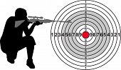 image of shooting-range  - Target for shooting range with silhouette - JPG