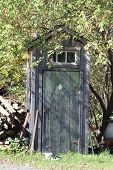 foto of outhouses  - Old wooden - JPG