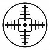 Military Aim Target Icon. Simple Illustration Of Military Aim Target Vector Icon For Web Design Isol poster