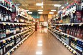 Blurred Wine Shelves poster