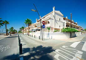 stock photo of ibanez  - View of Costa Blanca street Province of Alicante in Spain - JPG