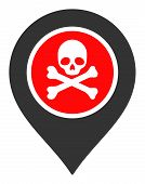 Dangerous Zone Pointer Vector Icon. Flat Dangerous Zone Pointer Symbol Is Isolated On A White Backgr poster
