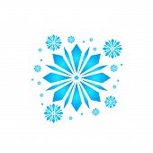 Snow Element. Blue Snow With A White Background. Snow Vector Collection. Snow Hand Cover For The Des poster