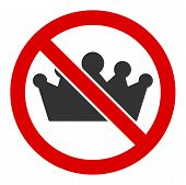 No Monarchy Vector Icon. Flat No Monarchy Symbol Is Isolated On A White Background. poster