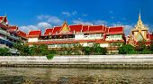Wat Soi Thong In Bangkok, Thailand. The Temple Is On The Banks Of The Chao Phraya River In Bang Sue  poster