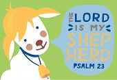 Hand Lettering The Lord Is My Shepherd With Sheep poster