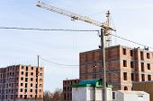 Construction Of A Multi-storey Residential Building.construction Of A Multi-storey Residential Build poster