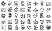 Testing Software Icons Set. Outline Set Of Testing Software Vector Icons For Web Design Isolated On  poster