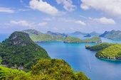 Beautiful Scenery At View Point Of Ang Thong National Marine Park Near Koh Samui In Gulf Of Thailand poster