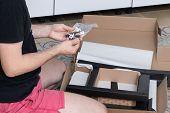 Professional Repair In The Apartment. Assembling New Furniture poster