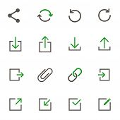 Web Buttons Simple Vector Icons In Two Colors Isolated On White Background. Internet Communication C poster