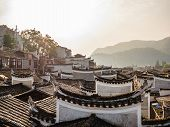 Roof Of Chinese Vintage House In Fenghuang Old Town.phoenix Ancient Town Or Fenghuang County Is A Co poster