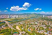 Vienna. Aerial View Of Northern Vienna Cityscape And Danube River, Floridsdorf, Capital Of Austria poster