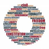 Word Cloud With Words Related To Politics, Government, Parliamentary Democracy And Political Life poster