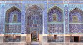 Arches with mosaics at the entrance to Shrine Ensemble, mausoleum and khaneghah of Sheikh Safi al-di poster