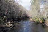 Creek In Linville Gorge Wilderness, North Carolina On Cold Winter Morning. poster