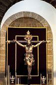 pic of inri  - Christ of the forgiveness in the parish church of Santa Cruz Cadiz Spain  - JPG