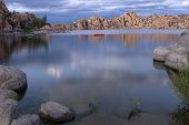 Lake In Prescott Arizona With Storm Clouds