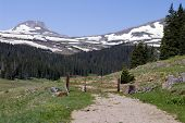 picture of colorado high country  - The end of the road in the high Rockies - JPG