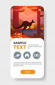 Jumping Wild Animal Kangaroo Forest Fires Dangerous Wildfire Bush Fire Burning Trees Natural Disaste poster