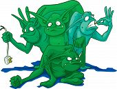 picture of gremlins  - For green gremlins ready to run a muck and destroy the lives of our appliances and equipment - JPG