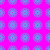 Abstract Cyan Floral Pattern On The Magenta Background poster