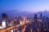 Tel Aviv Skyline At Sunset,  Tel Aviv Cityscape, Israel poster