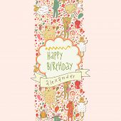 foto of orange frog  - Happy birthday card - JPG