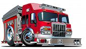 pic of big-rig  - Vector Cartoon Fire Truck - JPG