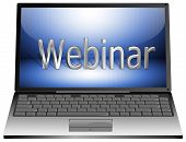 Laptop met webinar