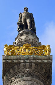 image of leopold  - King Leopold Statue I Statue on the Congress Column in Brussels - JPG
