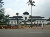 stock photo of sate  - gedung sate is the icon landmark buildings in bandung west java - JPG