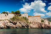 Island Of Sveti Stefan, Montenegro, Adriatic Sea