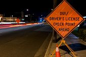 pic of designated driver  - A DUI check point in Anaheim CA - JPG