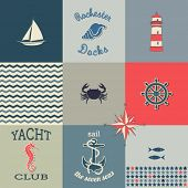 foto of taupe  - Nautical Icons Poster  - JPG