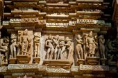pic of kamasutra  - Depictions of the Kamasutra at the temples of Khajuraho India - JPG