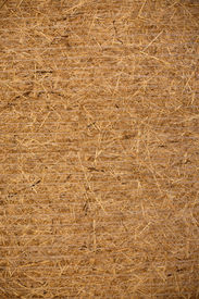 stock photo of hayride  - Side view of a compressed hay bale - JPG