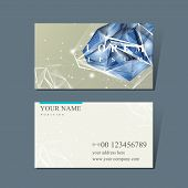stock photo of priceless  - modern design for business card with diamond element - JPG
