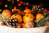 foto of christmas spices  - Christmas basket  - JPG