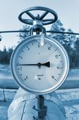 foto of pipeline  - Instrument for measuring the pressure in the pipeline - JPG