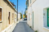 picture of larnaca  - The narrow residential street leads to the sea Larnaca Cyprus - JPG