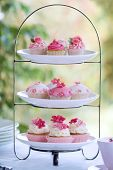 picture of tea party  - Cakestand with an assortment of cup cakes - JPG