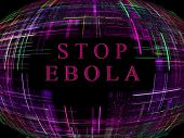 pic of epidemic  - Purple abstract globe shape on black background with text - JPG